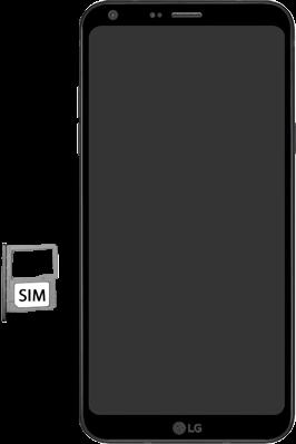LG Q6 - SIM-Karte - Einlegen - 4 / 8