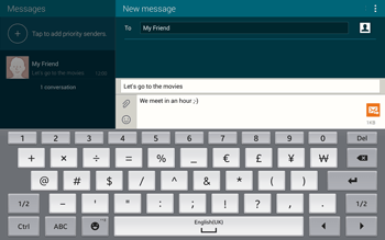Samsung T805 Galaxy Tab S - MMS - Sending pictures - Step 12