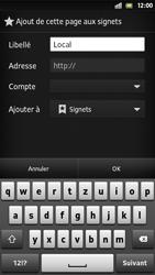 Sony Xperia S - Internet et roaming de données - Navigation sur Internet - Étape 8