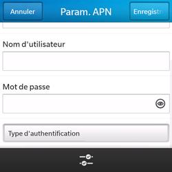 BlackBerry Q5 - Internet - configuration manuelle - Étape 10