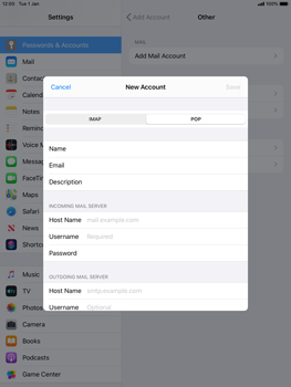 Apple iPad Air 2 - ipados 13 - E-mail - manual configuration - Step 11