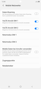 Samsung Galaxy Note 20 Ultra 5G - Netzwerk - Manuelle Netzwerkwahl - Schritt 6
