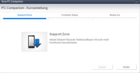Sony Xperia J - Software - Installieren von Software zur PC-Synchronisierung - Schritt 7