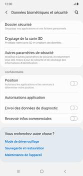 Samsung Galaxy Note 10+ - Sécuriser votre mobile - Personnaliser le code PIN de votre carte SIM - Étape 5