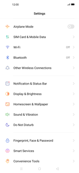 Oppo Find X2 - Internet and data roaming - How to check if data-connectivity is enabled - Step 4