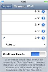 Apple iPhone 3G S - Wifi - configuration manuelle - Étape 6
