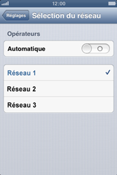 Apple iPhone 3GS - Réseau - Sélection manuelle du réseau - Étape 6