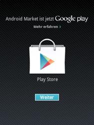 Samsung Galaxy Y - Apps - Einrichten des App Stores - Schritt 16