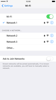 Apple Apple iPhone 6s Plus iOS 10 - Wi-Fi - Connect to Wi-Fi network - Step 7