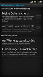 Sony Xperia U - Fehlerbehebung - Handy zurücksetzen - 7 / 10