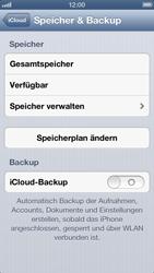 Apple iPhone 5 - Apps - Konfigurieren des Apple iCloud-Dienstes - Schritt 10