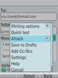Nokia 301-1 - E-mail - Sending emails - Step 13
