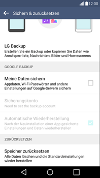 LG G4 - Fehlerbehebung - Handy zurücksetzen - 8 / 12
