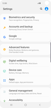 Samsung Galaxy S10 - Data - Create a backup with your account - Step 4