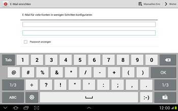 Samsung Galaxy Tab 2 10.1 - E-Mail - Manuelle Konfiguration - Schritt 5