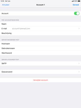 Apple iPad Mini 4 - iOS 12 - E-mail - e-mail instellen: POP3 - Stap 16