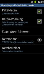 Samsung Galaxy S Advance - Internet und Datenroaming - Deaktivieren von Datenroaming - Schritt 6