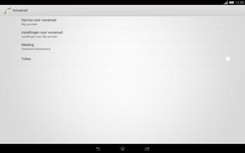 Sony Xperia Tablet Z2 (SGP521) - Voicemail - handmatig instellen - Stap 6