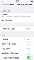 Apple iPhone 5 iOS 7 - E-mail - 032b. Email wizard - Yahoo - Step 11