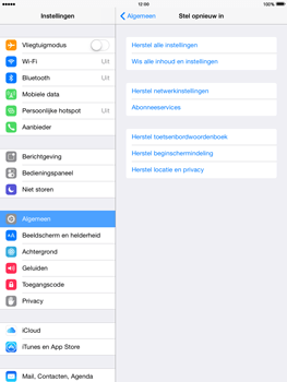 Apple iPad mini retina iOS 8 - Resetten - Fabrieksinstellingen terugzetten - Stap 5