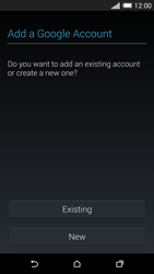 HTC One M8 - Applications - Setting up the application store - Step 4