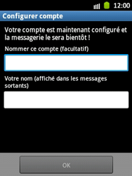 Samsung S5300 Galaxy Pocket - E-mail - Configuration manuelle - Étape 15