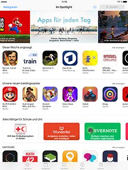 Apple iPad Air 2 - Apps - Konto anlegen und einrichten - 1 / 1