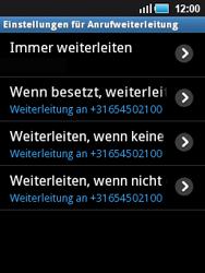 Samsung S5570 Galaxy Mini - Anrufe - Rufumleitungen setzen und löschen - Schritt 8