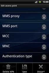 Sony Xperia Mini Pro - Internet - Manual configuration - Step 10
