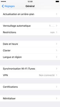 Apple iPhone 6s Plus - Téléphone mobile - Réinitialisation de la configuration d