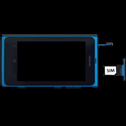 Nokia Lumia 800 - SIM-Karte - Einlegen - Schritt 6