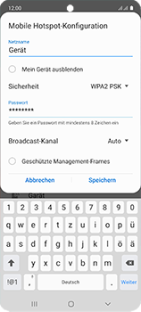 Samsung Galaxy A51 - WiFi - So aktivieren Sie einen WLAN-Hotspot - Schritt 10