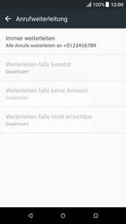 HTC One M9 - Android Nougat - Anrufe - Rufumleitungen setzen und löschen - Schritt 8
