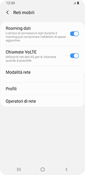 Samsung Galaxy S9 - Android Pie - Internet e roaming dati - Disattivazione del roaming dati - Fase 6