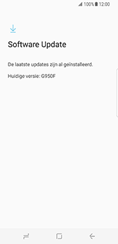 Samsung Galaxy S8 - Software update - update installeren zonder PC - Stap 7
