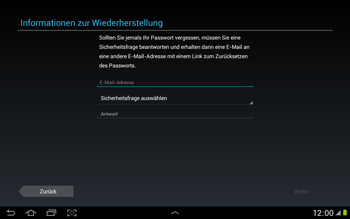 Samsung N8000 Galaxy Note 10-1 - Apps - Konto anlegen und einrichten - Schritt 9