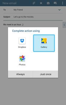 Samsung T335 Galaxy Tab 4 8-0 - E-mail - Sending emails - Step 13