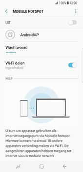 Samsung Galaxy S8 (G950) - WiFi - Mobiele hotspot instellen - Stap 12