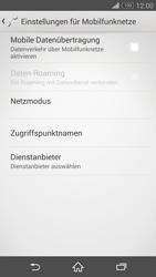 Sony Xperia Z3 - Internet und Datenroaming - Prüfen, ob Datenkonnektivität aktiviert ist - Schritt 6