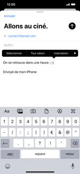 Apple iPhone 11 - E-mail - envoyer un e-mail - Étape 8