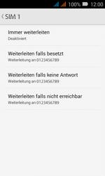 Huawei Y3 - Anrufe - Rufumleitungen setzen und löschen - Schritt 8
