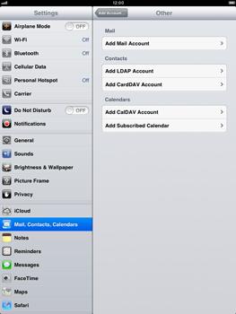 Apple iPad Retina - E-mail - Manual configuration - Step 6