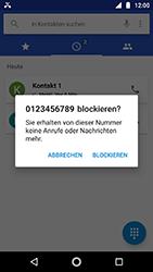 Motorola Moto G5s - Anrufe - Anrufe blockieren - Schritt 6