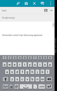 Samsung Galaxy Note Edge - e-mail - hoe te versturen - stap 5
