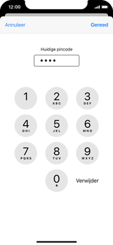 Apple iPhone X - iOS 13 - Beveiliging - Stel de pincode voor je simkaart in - Stap 7