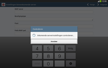 Samsung P5220 Galaxy Tab 3 10-1 LTE - E-mail - e-mail instellen: IMAP (aanbevolen) - Stap 11