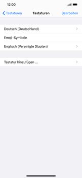 Apple iPhone XS Max - iOS 13 - Startanleitung - So fügen Sie eine Tastatursprache hinzu - Schritt 8