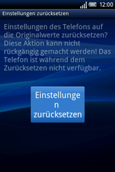 Sony Ericsson Xperia X8 - Fehlerbehebung - Handy zurücksetzen - Schritt 9