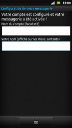Sony MT27i Xperia Sola - E-mail - Configuration manuelle - Étape 16