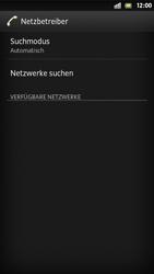 Sony Xperia S - Netzwerk - Manuelle Netzwerkwahl - Schritt 7